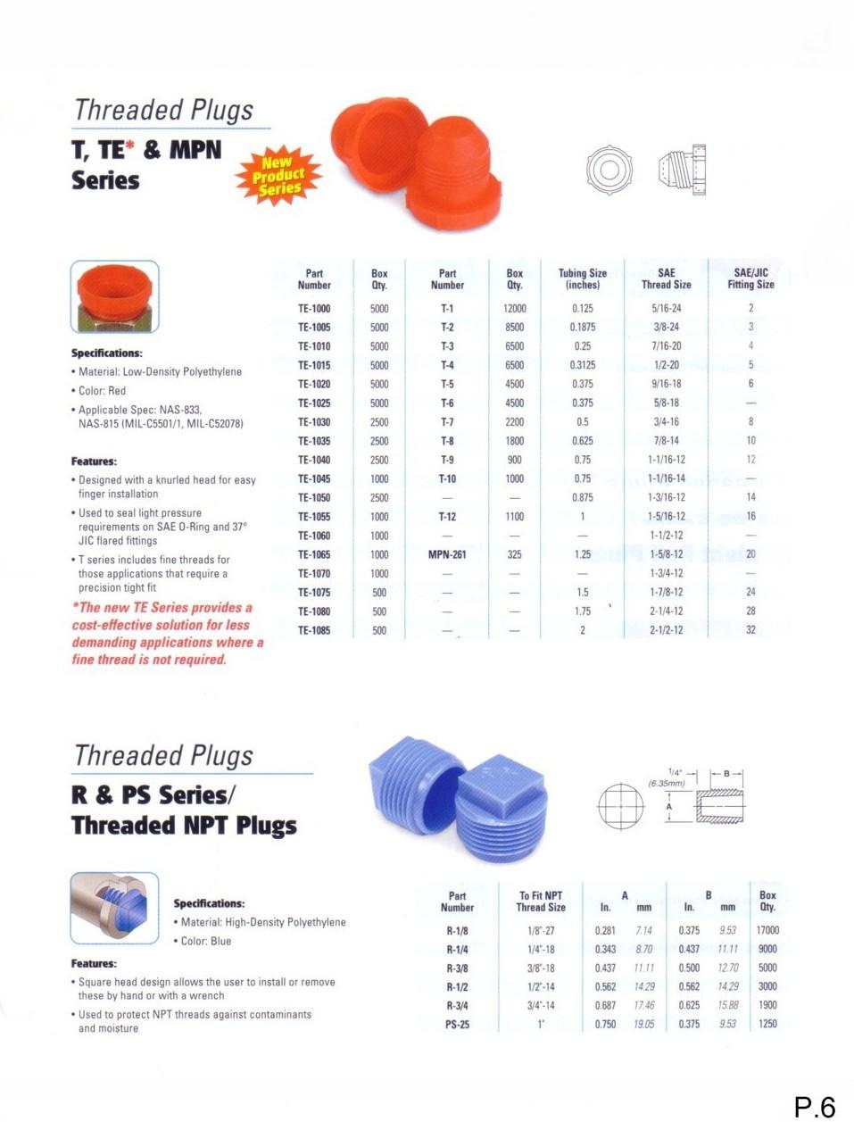Threaded Plugs Page 6 Complex Plastics 1 888 Plastik 1 800